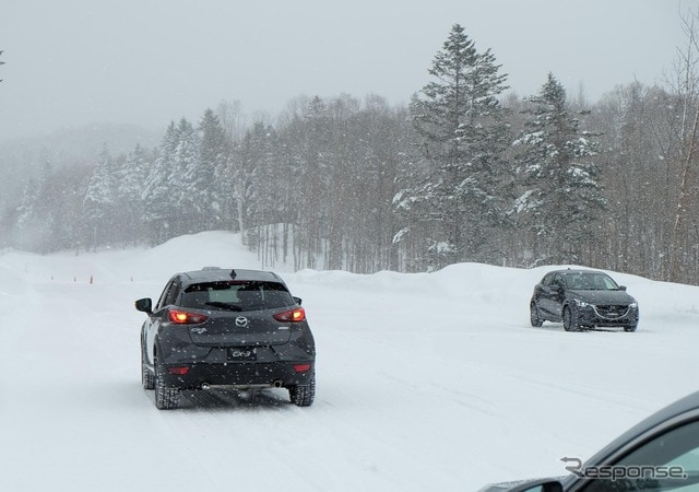 マツダCX-5雪上試乗