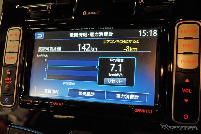 冬季1237.2kmドライブのトータル電費は7.1km/kWh。ゆっくり走行に徹すればこの季節でももう少し良いだろう。