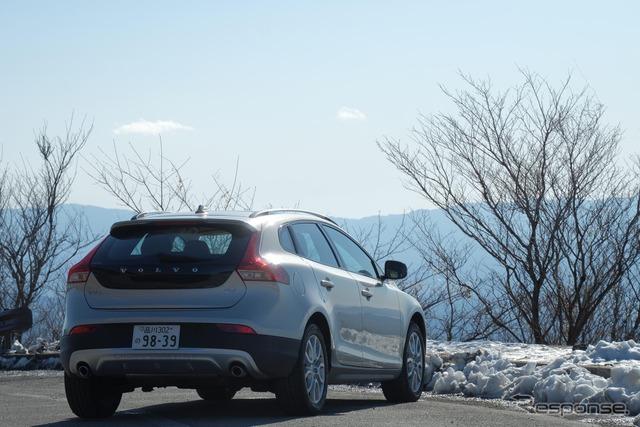 箱根峠にて。