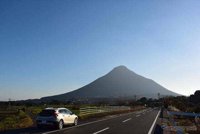 薩摩半島南端の火山、開聞岳へ向かう。
