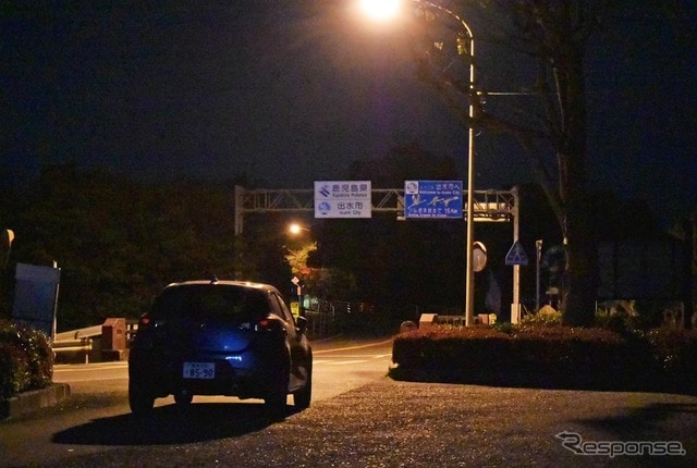 夜の国道3号線熊本~鹿児島県境。