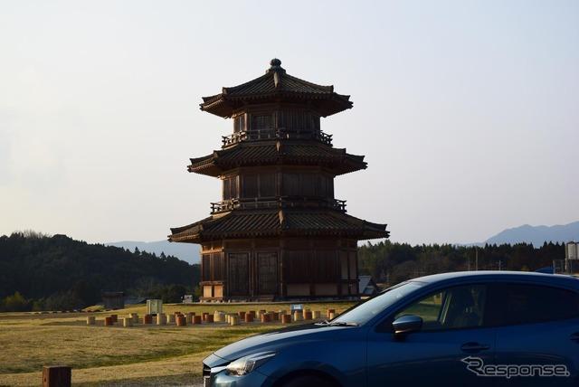 大和朝廷時代に置かれた熊本北方の古代山城、鞠智城跡にて。