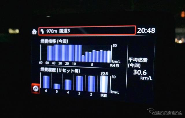 DPF再生が始まると燃費がガタッと落ちる。