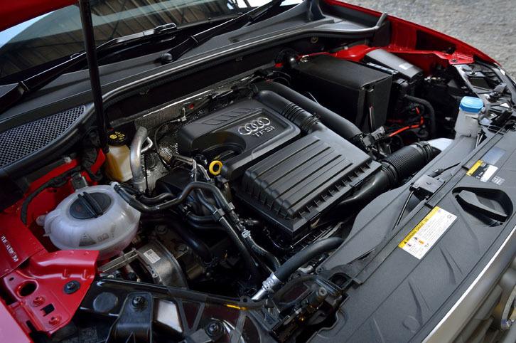 ベースモデル「Q2 1.4 TFSIシリンダーオンデマンド スポーツ」と同じ、1.4リッター直4ターボエンジン。燃費を向上させる気筒休止システムを搭載する。