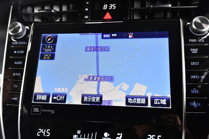 「T-Connect SDナビゲーションシステム」のディスプレイは、8インチから9.2インチへと拡大。視認性が向上した。