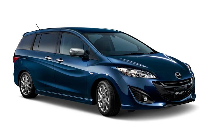 マツダの3列ミニバン「プレマシー」。「MPV」「プレマシー」「ビアンテ」という3車種のミニバンを擁していたマツダだが、すでにミニバン市場からの撤退を決定している。
