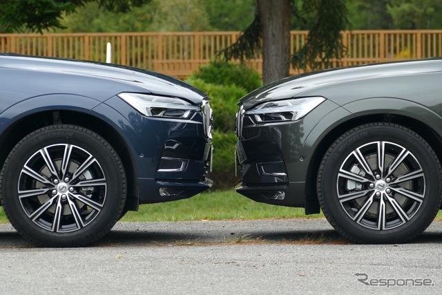 エアサスを装着する右の車両は停車時に50mm車高が下がる