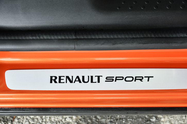 ルノースポールのロゴ入りキッキングプレートが標準で装備される。