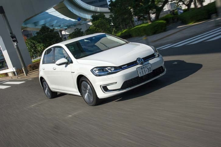 「e-ゴルフ」の動力性能は、0-100km/h加速が9.6秒、最高速が150km/hと公表されている。