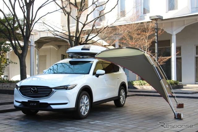 オプションの車載アクセサリーも用意(マツダ CX-8)