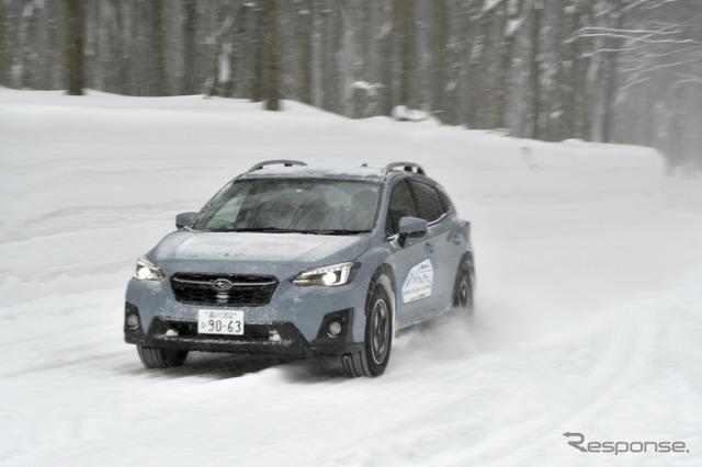 スバル XV 雪上試乗