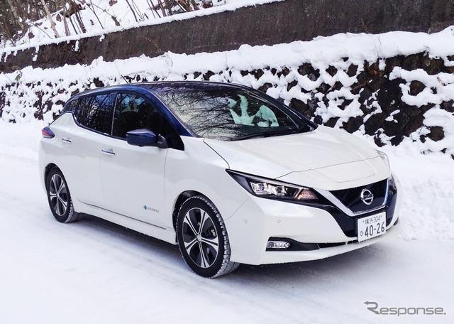 【日産 リーフ/ノートe-POWER 雪上試乗】圧雪・氷上でワンペダルドライブが活きた…丸山誠