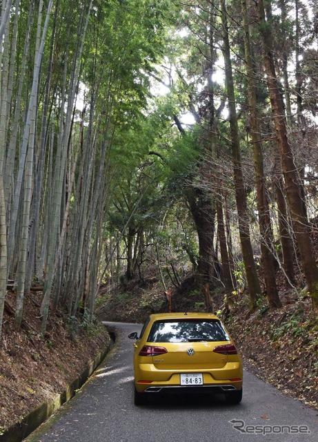 田原坂は舗装されているが、道幅は西南戦争当時とほとんど変わらず。