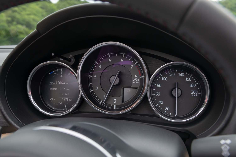 エンジン回転計のレッドゾーンの始まりは、従来の6400rpmから7200rpmに引き上げられている。