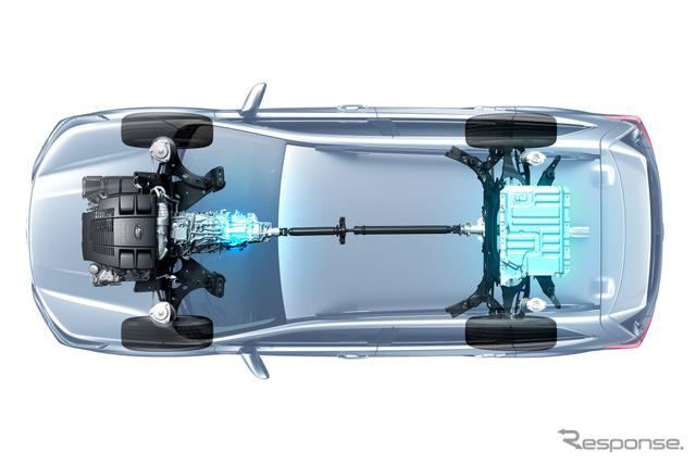 新型スバル・フォレスターのe-BOXER