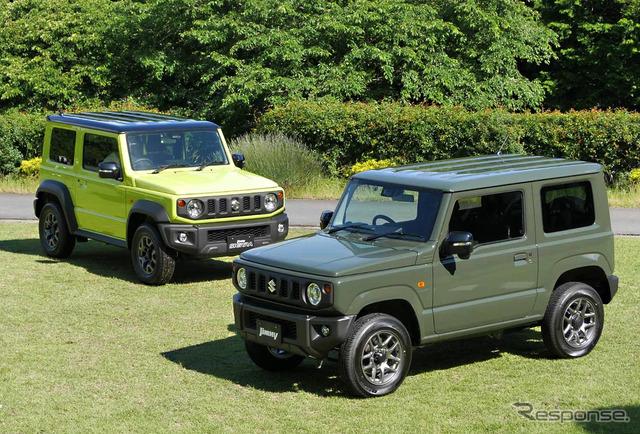 スズキ ジムニーシエラ 新型(左)とジムニー新型(右)