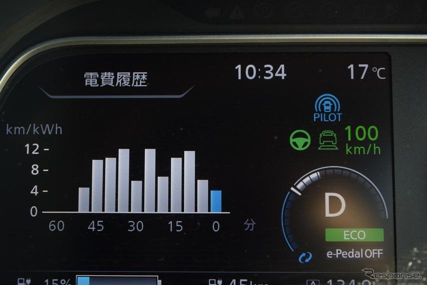 高速巡航中。電費は若干悪化した印象。