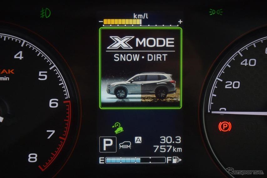 タイヤが埋まるほどの悪コンディションをサマータイヤで走るのだが、最も悪い道を行く「DEEP SNOW・MUD」ではなく、「SNOW・DIRT」モードで十分だという。