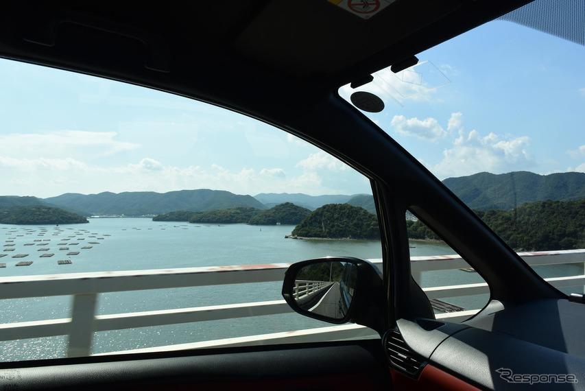 備前の海を眺める。視界はとても良かった。