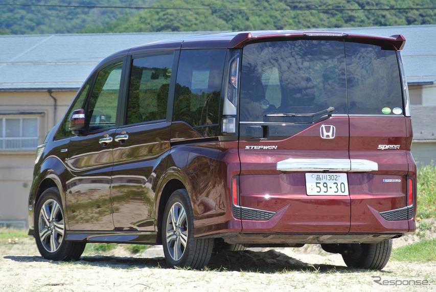 ステップワゴン スパーダ ハイブリッドG・EX ホンダセンシング。鳥取砂丘付近にて。