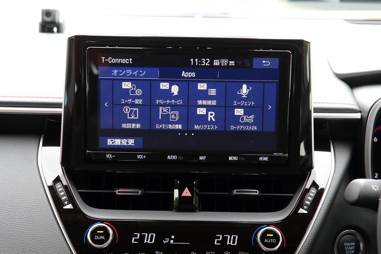 トヨタが、「コネクティッドカー」の第1弾として位置づけている「カローラ スポーツ」。通信モジュールが全車標準装備となっており、各種オペレーターサービスをはじめとした、さまざまな通信サービスを受けることができる。