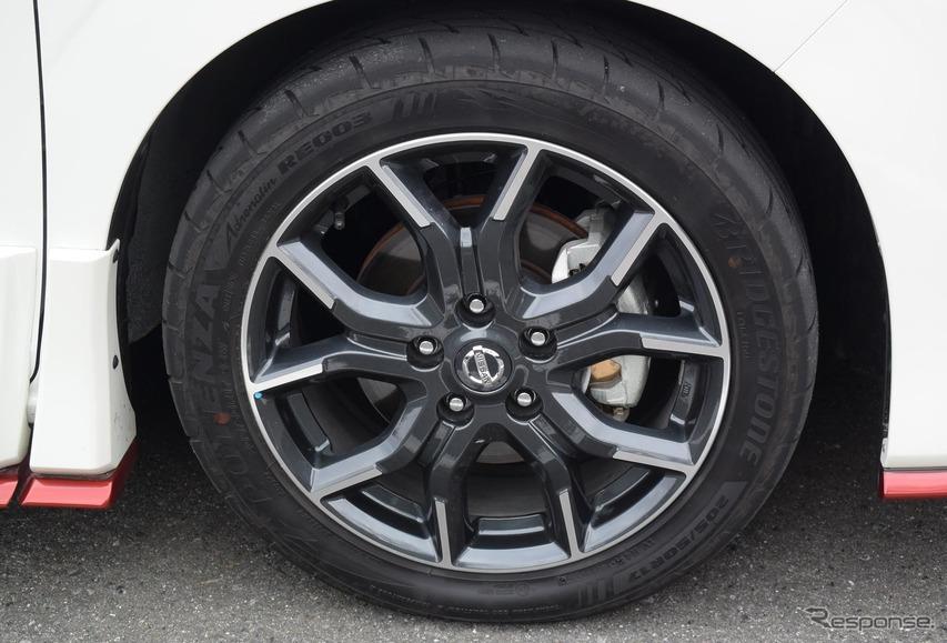 タイヤはブリヂストン「ポテンザ アドレナリン RE003」。サイズは205/50R17。
