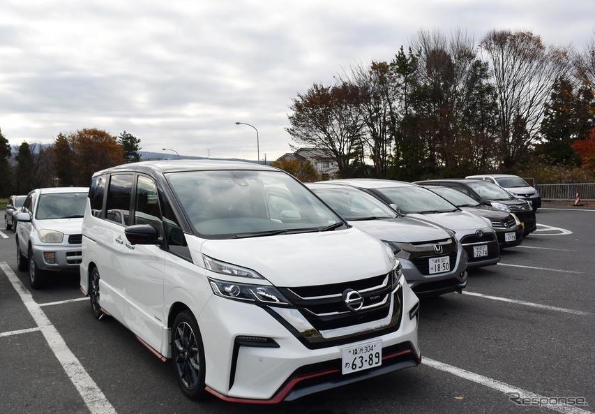 関越自動車道赤城高原サービスエリアで記念撮影。