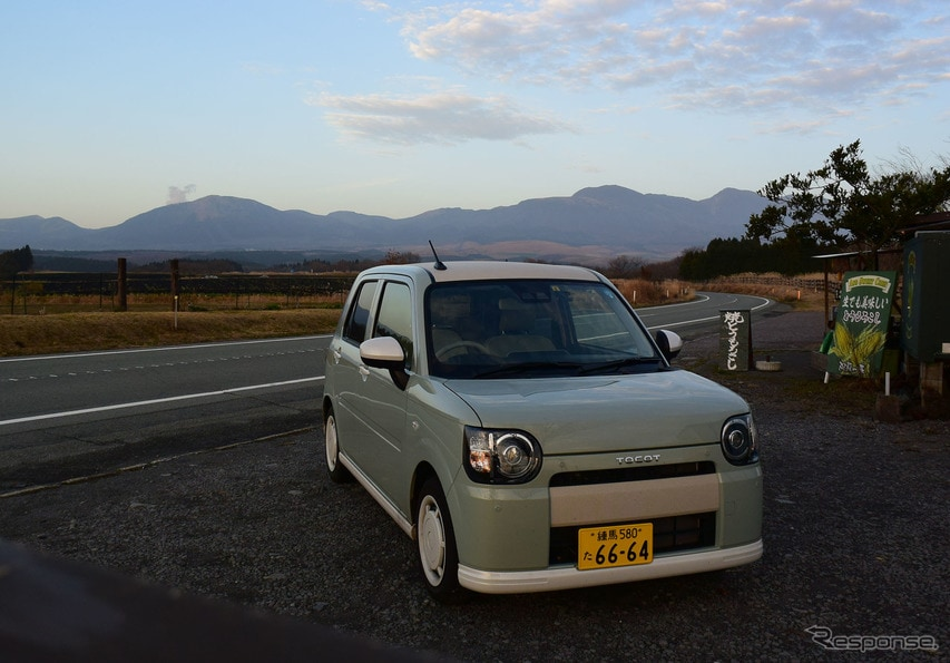 熊本~大分にまたがる全国屈指のビューティフルな高原道路、やまなみハイウェイにて。