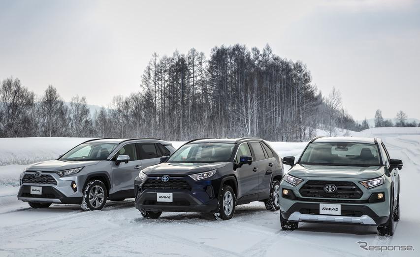 トヨタ RAV4 新型には3タイプのAWDが用意される。
