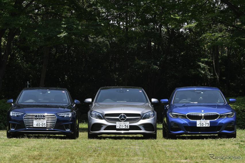 3シリーズ、Cクラス、A4を比較試乗! 走りの「らしさ」で選ぶドイツ王道セダン