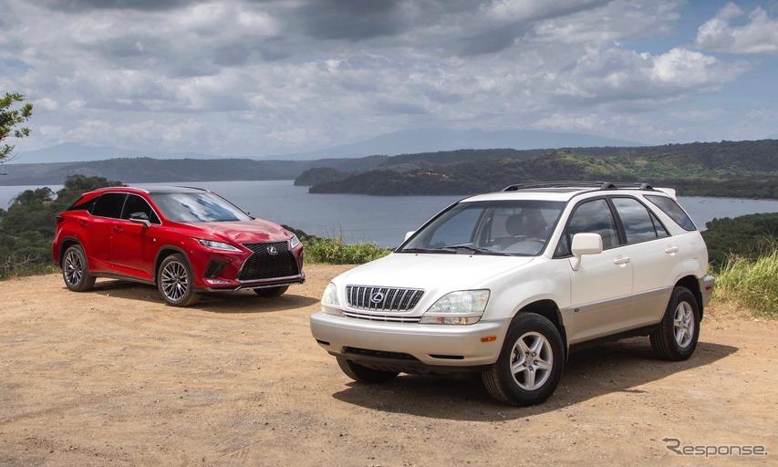 2003年型RX300(白)と2020年型RX350