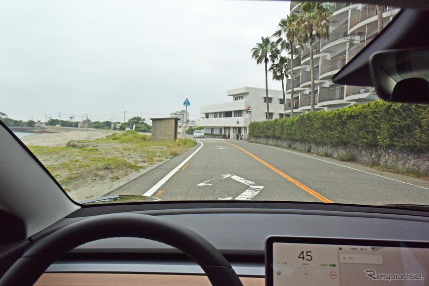 モデル3のドライブフィールは想像以上に爽快なものだった。