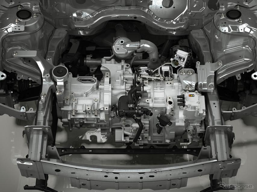 レンジエクステンダーとしてロータリーエンジンを搭載する