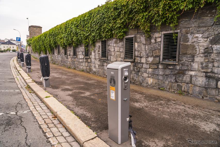 ノルウェーのEV充電ステーション