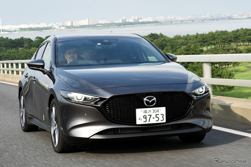 """【マツダ3 新型試乗】まるでドイツ車のような""""懐の深い""""走り…片岡英明"""