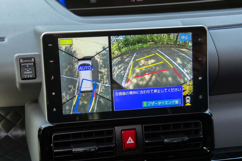 軽自動車初採用をうたう駐車支援システムを試す。クルマがやってくれるのはステアリング操作のみで、アクセルとブレーキはドライバーが担当する。