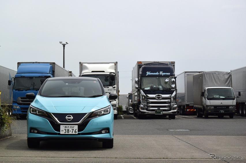名古屋のトラックステーションにて。