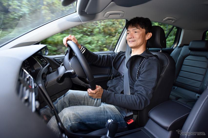 燃費運転には自信あり。だが、競争相手もうまい(写真は帰路)。