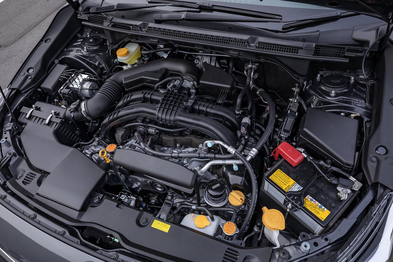 最高出力154PS、最大トルク196N・mを発生する2リッター水平対向4気筒エンジン。マイナーチェンジによるパワートレインの変更は、特にアナウンスされていない。