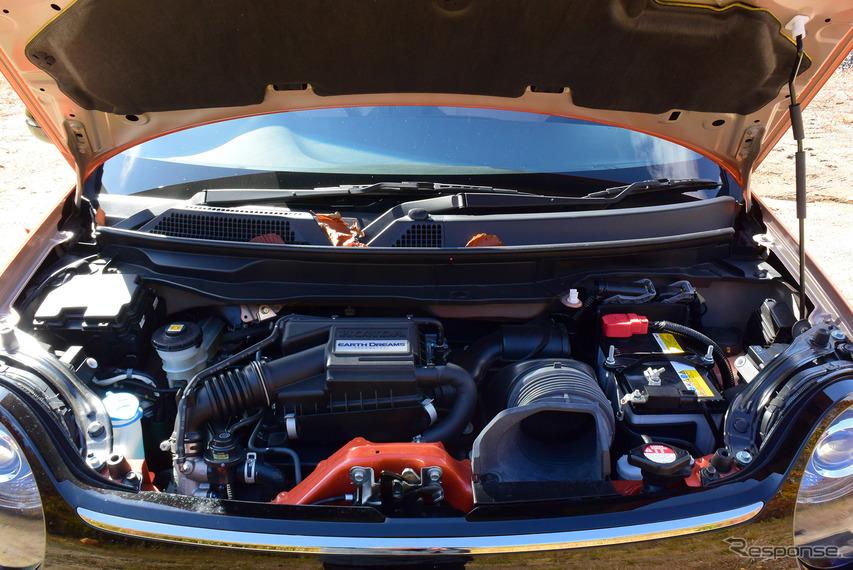 N-ONE RSのエンジンは旧世代だが結構力強く、活発に走れる。低い回転数ですでに最高出力64ps近くを発生しているような感じだった。