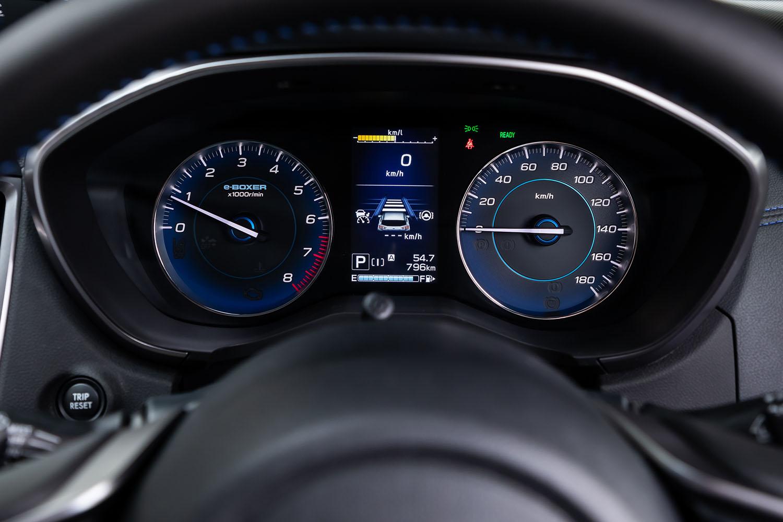 メーターは従来型と同じく2眼タイプで、速度計の目盛りが細かくなるなどのデザイン変更が行われた。ブルー基調の文字盤色は「アドバンス」専用となる。