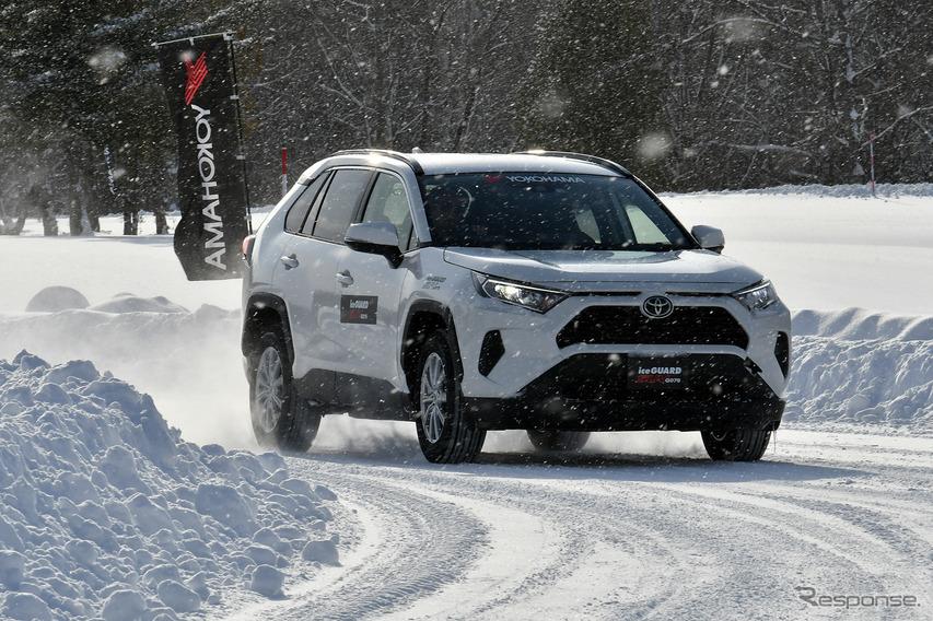 アイスガードSUV G075を装着したRAV4で雪道をテストドライブ