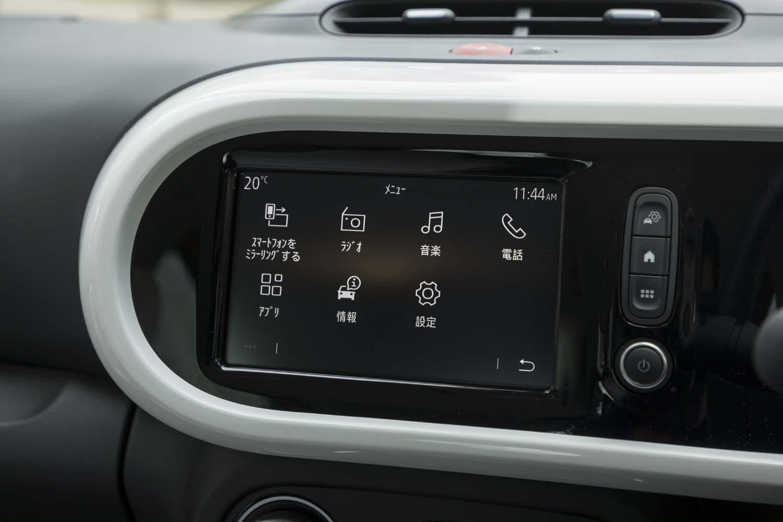 インフォテインメント用のモニターは7インチサイズ。スマートフォンと連携できるApple CarPlayやAndroid Autoにも対応している。