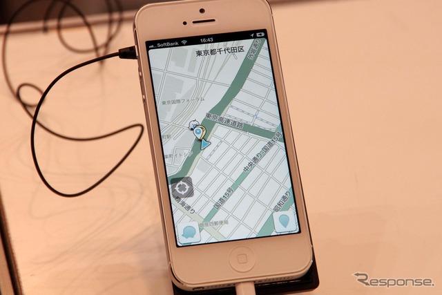 2013年3月のATTT(国際自動車通信技術展)でもWazeはブースを出展