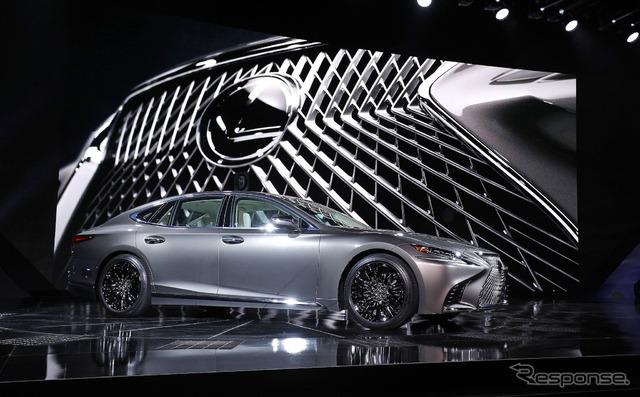 【デトロイトモーターショー2017】レクサス LS 新型、初公開…クーペシルエットで登場