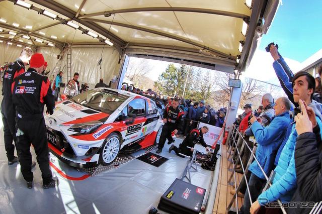 モンテでは「ファンに近いサービスパーク」を意識して展開したTOYOTA GAZOO Racing。