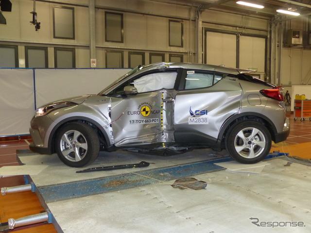 トヨタC-HR:ユーロNCAP、側面ポール衝突試験