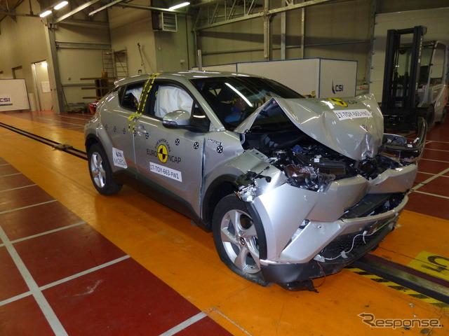 トヨタC-HR:ユーロNCAP、フルラップ前面衝突試験