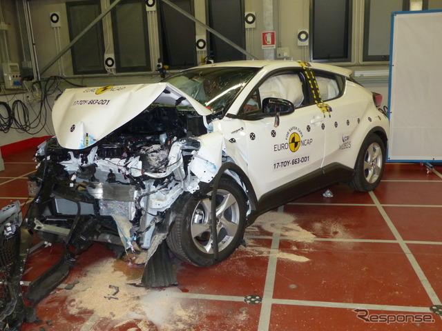 トヨタC-HR:ユーロNCAP、オフセット(オーバーラップ)前面衝突試験