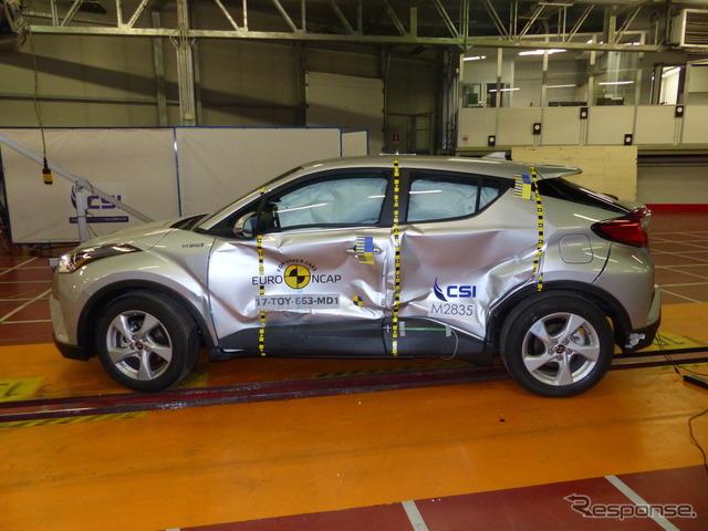 トヨタC-HR:ユーロNCAP、側面衝突試験